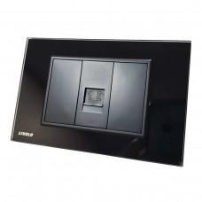 Espelho Livolo com 1 Entrada para Telefone (RJ11) - Preto - LMS-VL-C9-1T-12