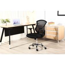 Cadeira Secretária Executiva Telada com Apoio para Braços PRETA - LMS-BY-2034