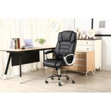 Cadeira Presidente almofadada para escritório PRETA - LMS-BY-8-670