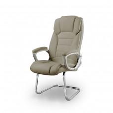 Cadeira Presidente almofadada para escritório TAUPE com Base Fixa - LMS-BY-8-670-F