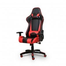 Cadeira Gamer Giratória com Regulagem de Encosto e Braços - Preta e Vermelha - Panther - LMS-BY-8-141