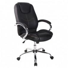 Cadeira Giratória para Escritório Presidente Almofadada Preta - LMS-BY-8-626