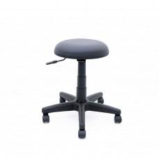 Cadeira Mocho Almofadada Giratória - Preta - Premium - LMS-BL-132582