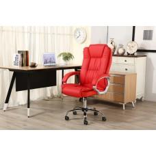 Cadeira Presidente Giratória Almofadada para Escritório Vermelha - LMS-BE-8-661-1