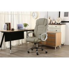 Cadeira Presidente almofadada para escritório Taupe / Marrom Claro - LMS-BY-8-670