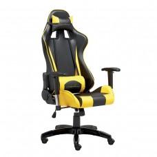 Cadeira Gamer Giratória com Regulagem de Encosto e Braços - Preta e Amarela - Panther - LMS-BY-8-141