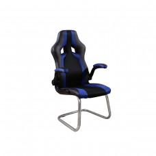 Cadeira Racing / Gamer Fixa - Preta e Azul - LMS-BY-8-106-f