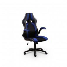 Cadeira Racing / Gamer Giratória Preta e Azul - LMS-BY-8-106