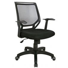 Cadeira Secretária Executiva Telada com Apoio para Braços PRETA - LMS-BY-8-318