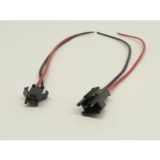 Kit com 5 Conectores de Engate Rápido - Macho e Fêmea (2 vias) - Para fitas Led entre outros