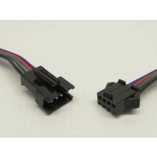Kit com 5 Conectores de Engate Rápido - Macho e Fêmea (4 vias) - Para fitas Led entre outros