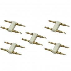 Kit com 5 Conectores de emenda para fita led 5050 sem silicone - 110v e 220v - 1449