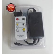 Controlador + Controle Remoto de 6 botões para fita Bi-Color 5025 Lenharo - 220V