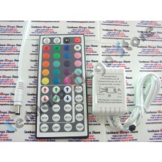 Controlador RGB sem fio + Controle Remoto 44 teclas para Fita Led 5050 e 3528 + conector - 950