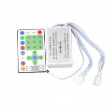 Controlador + Controle para fita led RGB 5050 Sequencial (Corrida de Cavalo / Horse Race) com 10 pinos - 1144 - LMS-CTHS9810