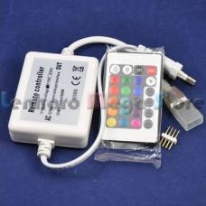 Controlador + Controle de 24 botões para fita RGB colorida de 220V