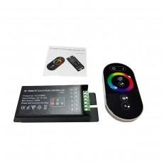Painel Touch Remote sem fio RF com controlador LED RGB Dimmer Para Fitas LED RGB