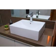 Cuba de Apoio em Cerâmica para Lavabos e Banheiros - Branca - Premium - LMS-MK-1022