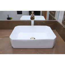 Cuba de Apoio em Cerâmica para Lavabos e Banheiros - Branca - Premium - LMS-MK-1035