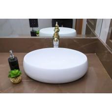 Cuba de Apoio em Cerâmica para Lavabos e Banheiros - Branca - LMS-MK-1061