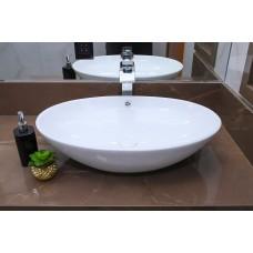 Cuba de Apoio em Cerâmica para Lavabos e Banheiros - Branca - Premium - LMS-MK-2021