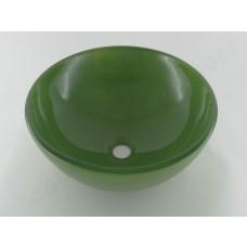 Cuba de Vidro Redonda para Lavabos e Banheiros - Verde - LMS-CK3-420