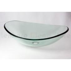 Cuba de Vidro Oval para Lavabos e Banheiros - Transparente - LMS-CK18