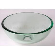 Cuba de Vidro Redonda para Lavabos e Banheiros - Transparente - 30cm - LMS-CK1-305