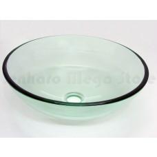 Cuba de Vidro Redonda para Lavabos e Banheiros - Transparente - LMS-CK1-420