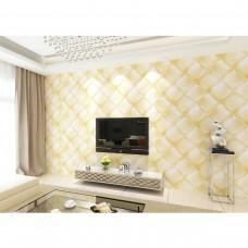 Papel de Parede 3D Lavável - Amarelo - Lindo desenho - Rolo com 10m x 53cm - LMS-PPB-98602