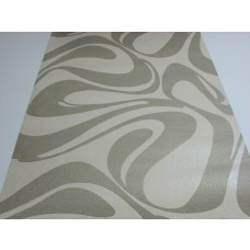 Papel de Parede Lavável - Palha com Detalhes em Prata - Rolo com 10m x 53cm - LMS-PPY-YS01-4