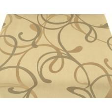 Papel de Parede Lavável -   Marfim com Detalhes em Bege e cobre - Rolo com 10m x 53cm - LMS-PPY-YWJ03-2