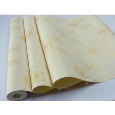 Papel de Parede Lavável - Creme com Detalhes em Dourado - Rolo com 10m x 53cm - LMS-PPD-W2000-1 (M2000-1)