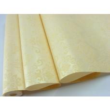 Papel de Parede - Creme com Flores em Marfim - Rolo com 10m x 53cm - LMS-PPD-370405