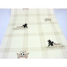 Papel de Parede - Palha com desenhos de Futebol -  Rolo com 10m x 53cm - LMS-PPD-A5071