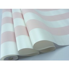 Papel de Parede - Branco e Rosa com Listras - Rolo 10m x 53cm -  LMS-PPY-YS03-PINK (88003)
