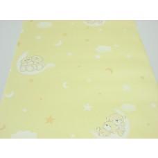 Papel de Parede Infantil - Amarelo com Desenhos Variados - Rolo com 10m x 53cm - LMS-PPY-YWC3-4 (ST26094)