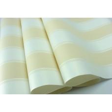 Papel de Parede - Branco e Creme com Listras - Rolo 10m x 53cm - LMS-PPY-YS06-Amarelo (70532)