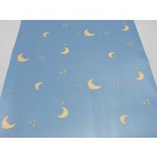 Papel de Parede Infantil - Azul com Estrelas - LMS-PPY-YWC12-1 (E2033)