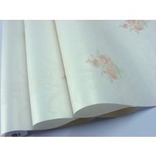 Papel de Parede - Branco com  Desenhos de Flores - Rolo com 10m x 53cm - LMS-PPY-YW81-54001