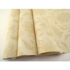 Papel de Parede - Creme com Detalhes em Bege - Rolo com 10m x 53cm - LMS-PPD-W2013-4