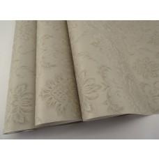 Papel de Parede - Bege Metalizado com Arabescos -  Rolo com 10m x 53cm - LMS-PPD-370505