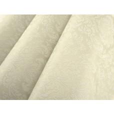 Papel de Parede - Creme com Flores Brancas - Rolo com 10m x 53cm - LMS-PPD-370901