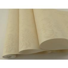 Papel de Parede - Marfim com Flores - Rolo com 10m x 53cm - LMS-PPD-370504
