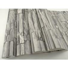 Papel de Parede Lavável - Cinza Imitando Tijolinhos - Rolo 10m x 53cm - LMS-YS07-142 (08142)