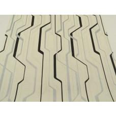 Papel de Parede Lavável - Creme com Detalhes Preto e Cinza - Rolo com 10m x 53cm - LMS-PPY-YWJ02-1