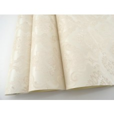 Papel de Parede - Creme com Arabescos em Pérola - Rolo com 10m x 53cm - LMS-PPD-760204