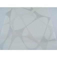 Papel de Parede - Branco  com Arabesco Cinza com Brilhos -  Rolo com 10m x 53cm - LMS-PPY-8121-1