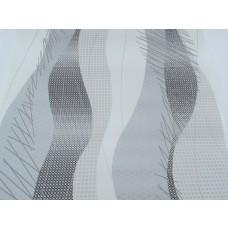Papel de Parede -  Branco, Cinza e Preto com Detalhes - Rolo com 10m x 53cm - LMS-PPY-MK880102-1