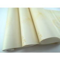 Papel de Parede - Creme com Detalhes em Bege - Rolo com 10m x 53cm - LMS-PPY-902